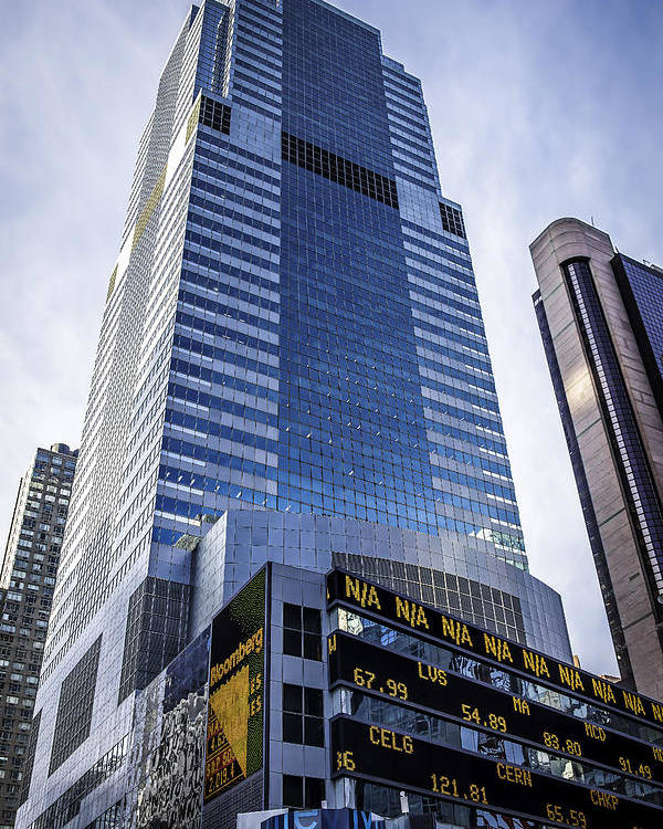 Architecture Poster featuring the photograph A Day In Ny02071557thstticker by Tony James