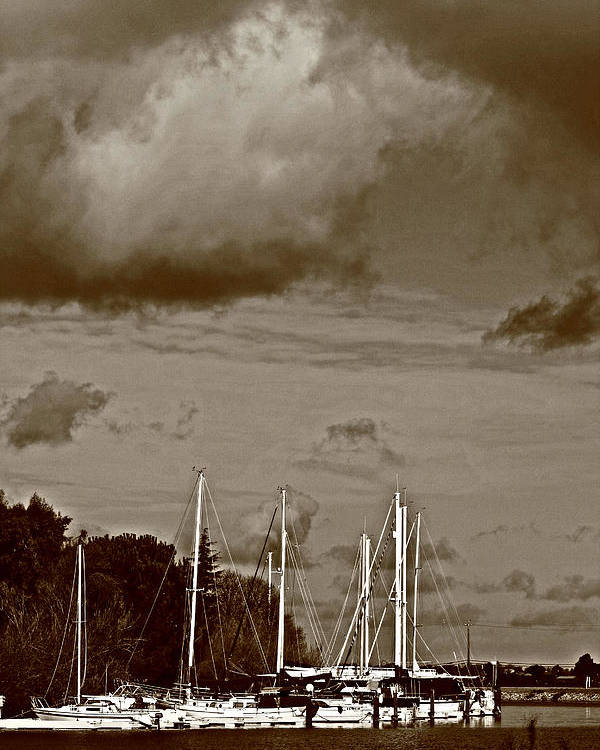 Storms Poster featuring the photograph A Delta Storm by Joseph Coulombe