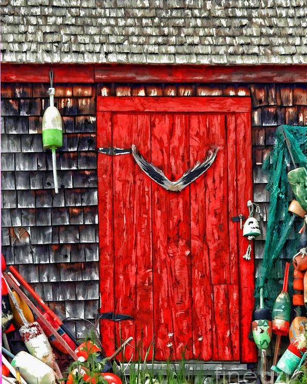 American Poster featuring the photograph A Door In Maine by Darren Fisher