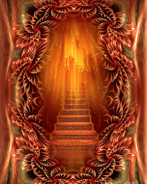 Aglimpseofheaven Poster featuring the digital art A Glimpse Of Heaven - Soothing Art By Giada Rossi by Giada Rossi
