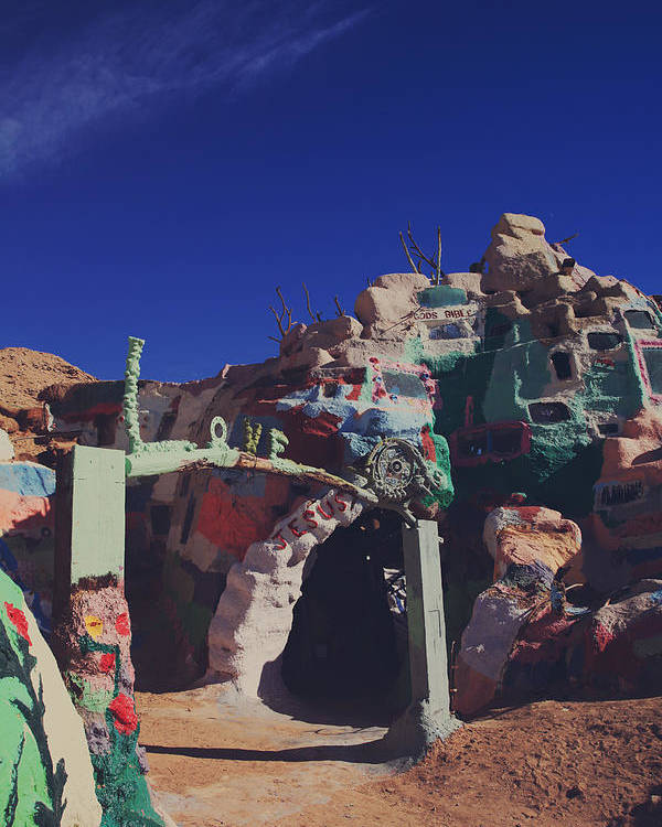 Salvation Mountain Poster featuring the photograph A Loving Entrance by Laurie Search