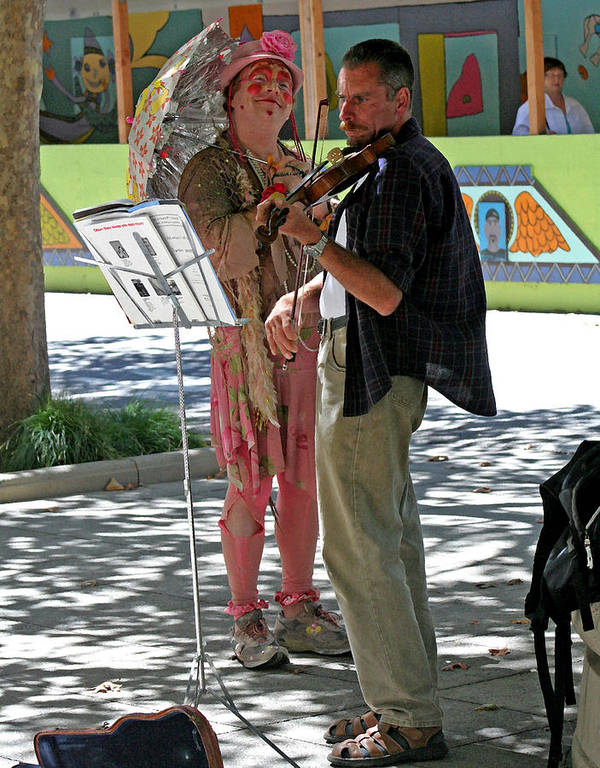 Street Music Prints Poster featuring the photograph A Melody For Me by Joseph Coulombe