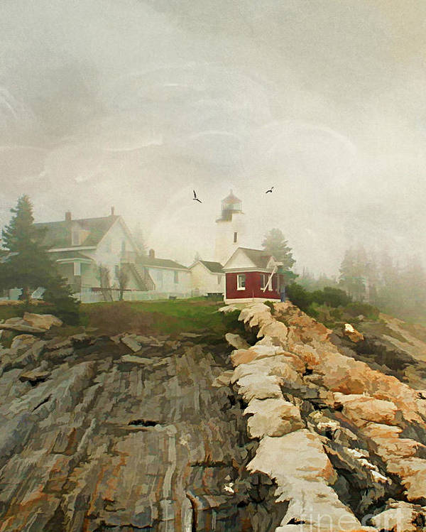 America Poster featuring the photograph A Morning In Maine by Darren Fisher
