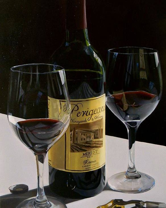 Wine Art Poster featuring the painting A Private Reserve by Brien Cole