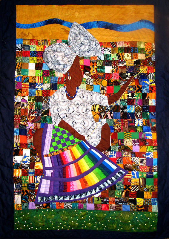 Art Quilt Poster featuring the tapestry - textile A Quilter's Dream by Aisha Lumumba