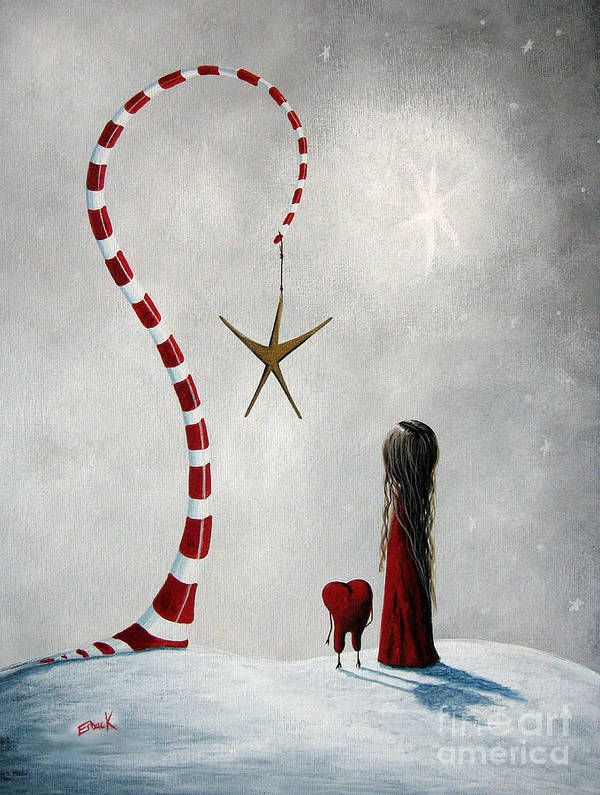 Holiday Poster featuring the painting A Starlit Wish By Shawna Erback by Shawna Erback