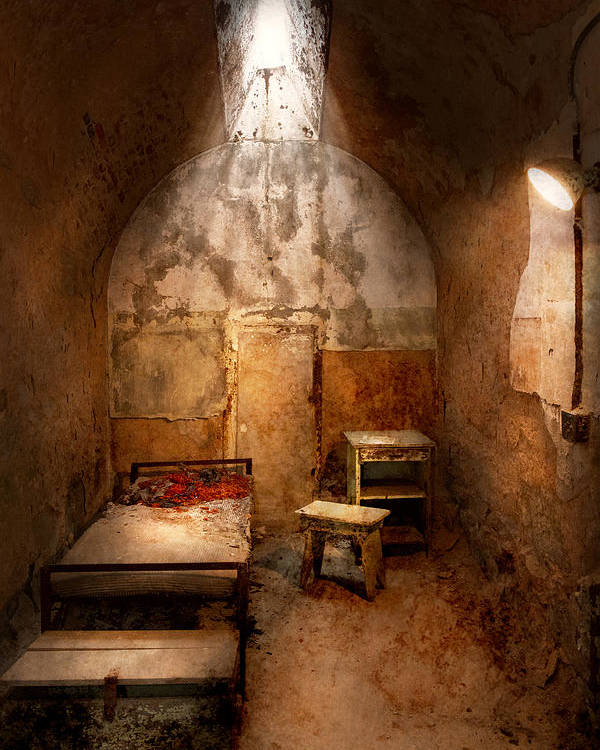 Jail Poster featuring the photograph Abandoned - Eastern State Penitentiary - Life Sentence by Mike Savad