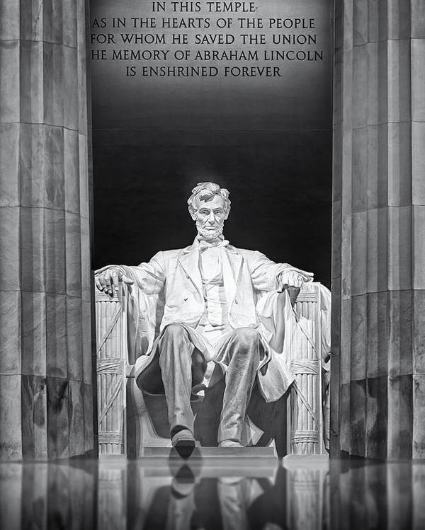Abraham Lincoln Poster featuring the photograph Abraham Lincoln Memorial by Susan Candelario