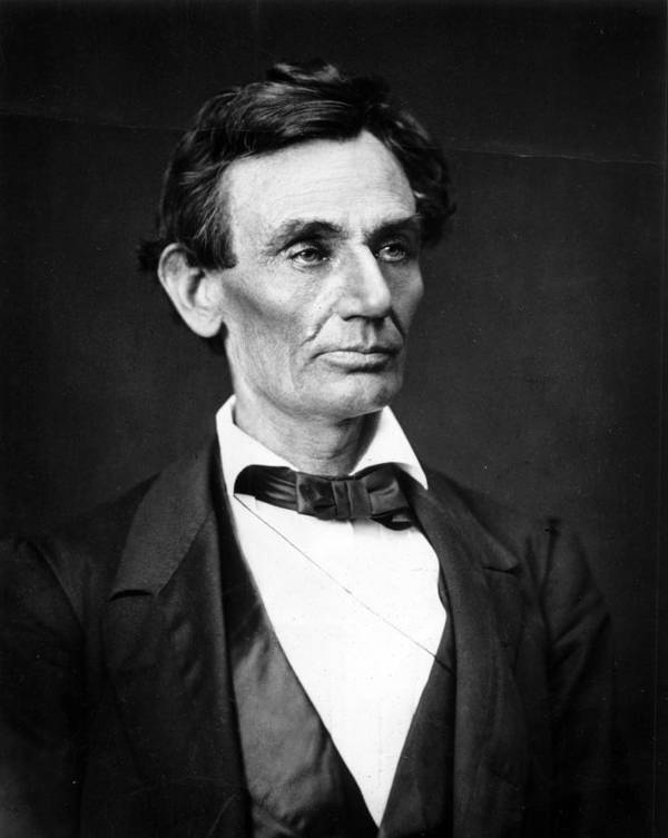 Abraham Poster featuring the photograph Abraham Lincoln Portrait by Anonymous