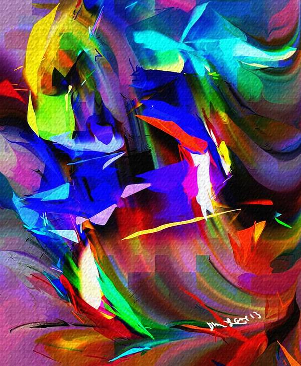 Abstract Poster featuring the digital art Abstract 082713d by David Lane