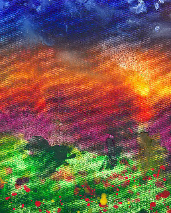 Abstract Poster featuring the photograph Abstract - Crayon - Utopia by Mike Savad