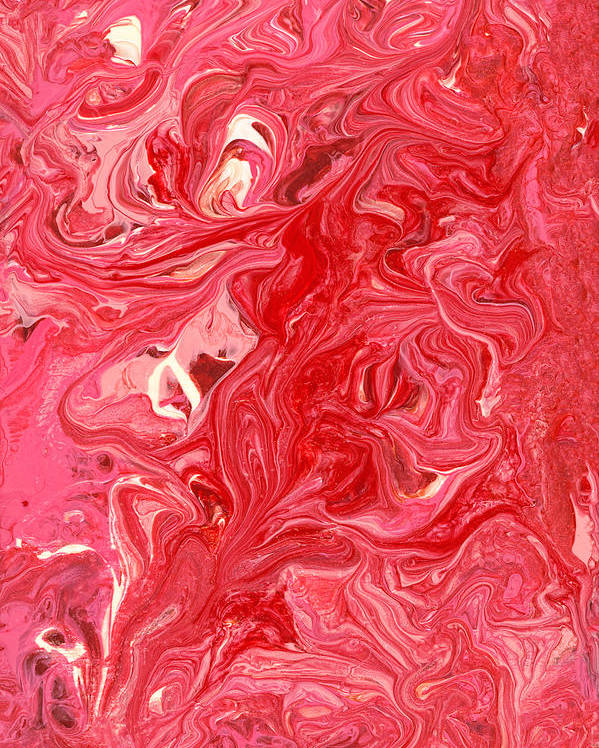 Abstract Poster featuring the photograph Abstract - Nail Polish - My Ice Cream Melted by Mike Savad