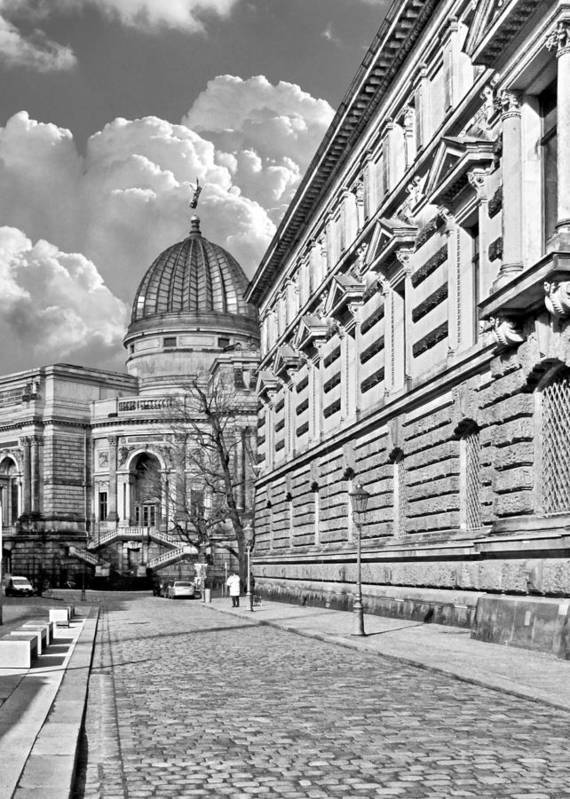 Academy Of Fine Arts Poster featuring the photograph Academy Of Arts Dresden by Christine Till