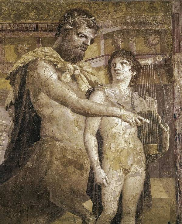 Vertical Poster featuring the photograph Achilles And Chiron. 45 - 79. Detail by Everett
