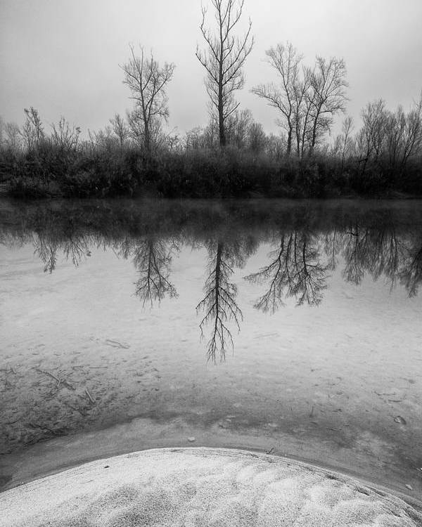 Landscapes Poster featuring the photograph Across The Water by Davorin Mance