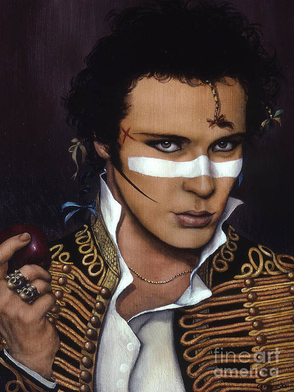 Adam Poster featuring the painting Adam Ant by Jane Whiting Chrzanoska