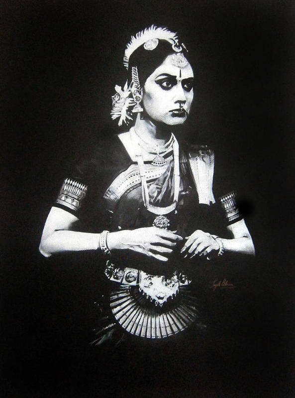 Color Pencil Poster featuring the drawing Adbhuta by Sujith Puthran