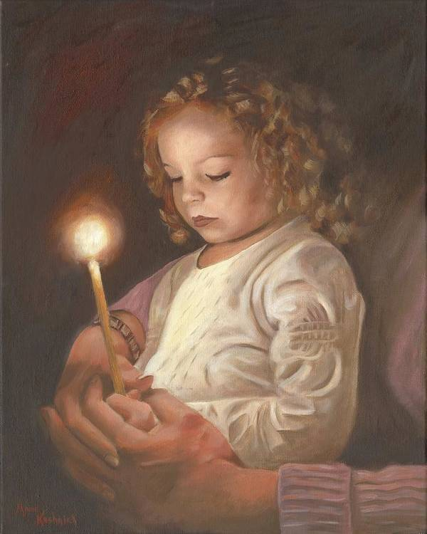 Advent Poster featuring the painting Advent Light by Anne Kushnick