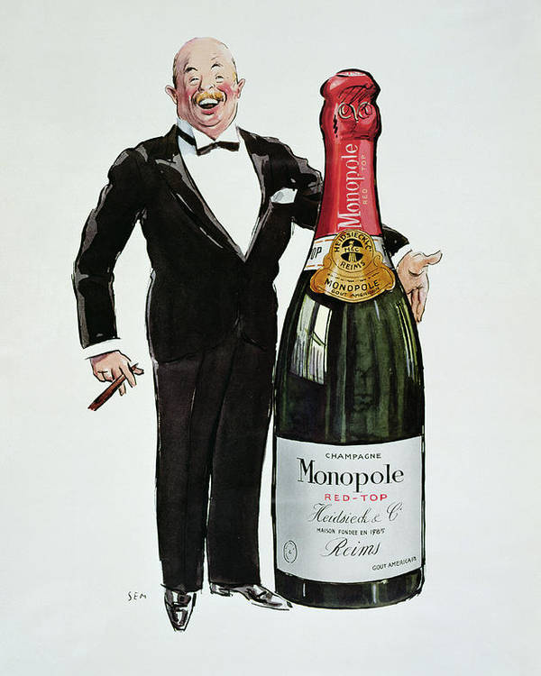 Reims Poster featuring the painting Advertisement For Heidsieck Champagne by Sem