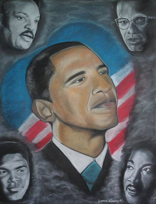 Jesse Jackson Poster featuring the painting African-american Love by Demitrius Roberts