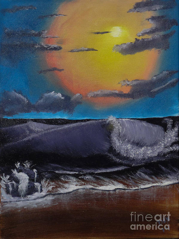 Landscape Poster featuring the painting After The Storm by Dave Atkins