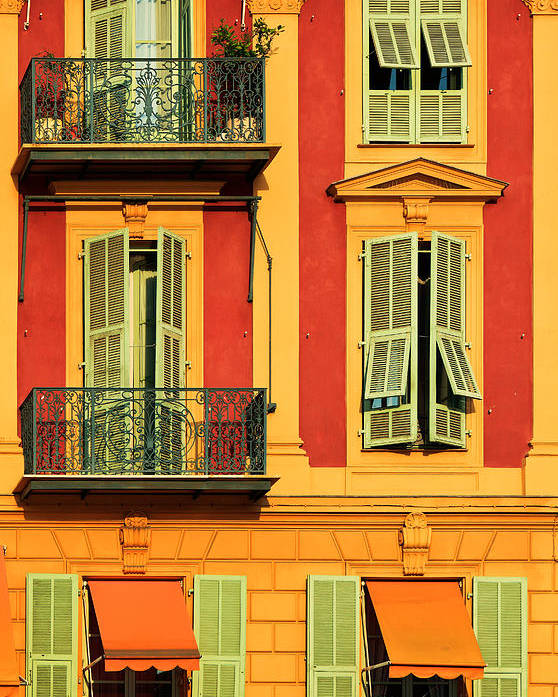Cote D\'azur Poster featuring the photograph Afternoon Windows by Inge Johnsson