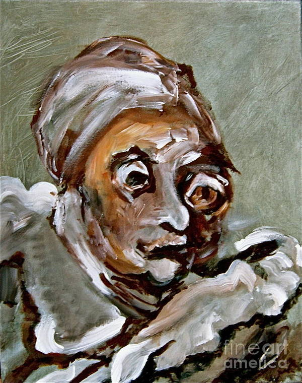 Face Poster featuring the painting Agnes by Michelle Dommer