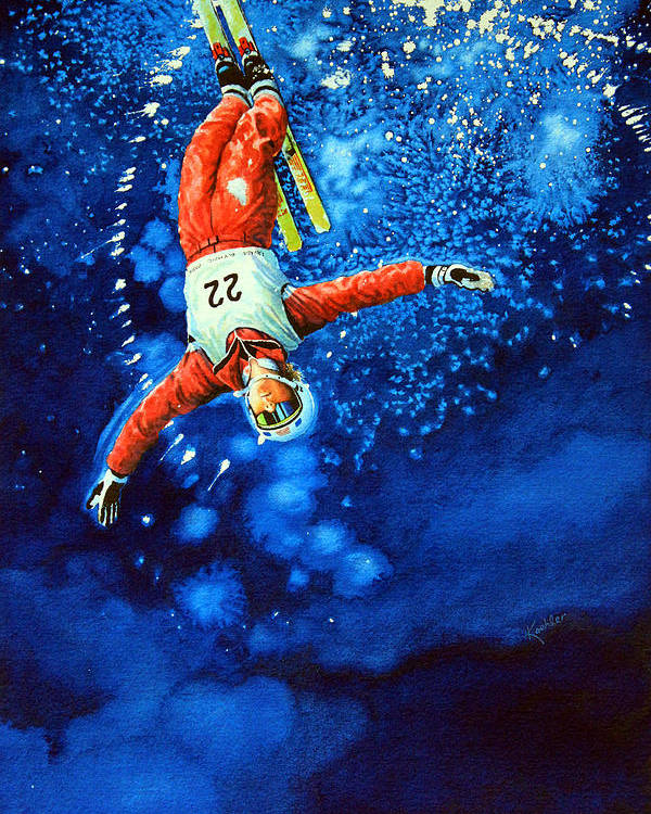 Sports Art Poster featuring the painting Air Force by Hanne Lore Koehler