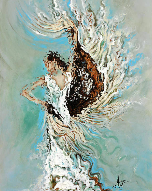 Flamenco Poster featuring the painting Air by Karina Llergo
