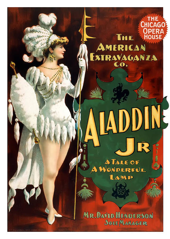 Vintage Poster Poster featuring the painting Aladdin Jr Amazon by Terry Reynoldson