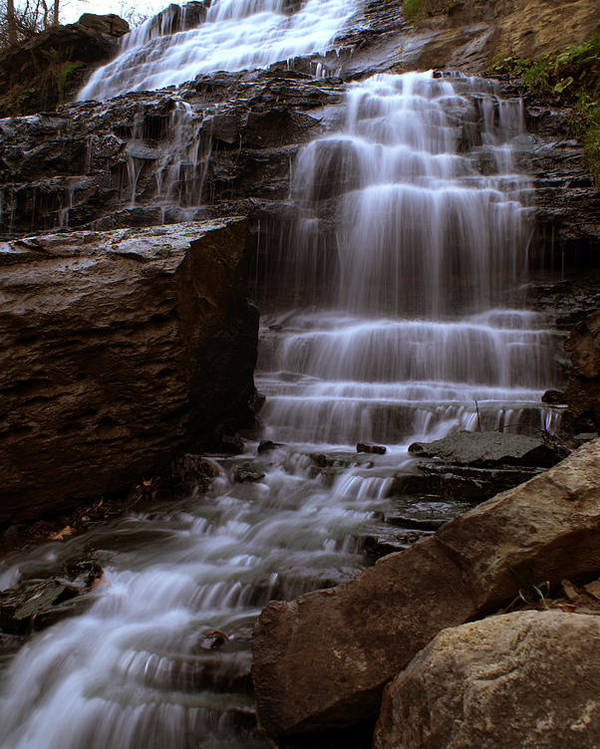 Landscape Poster featuring the photograph Albion Waterfalls 2 by John Turner