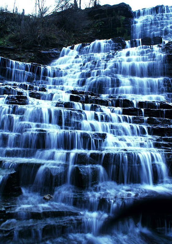 Landscape Poster featuring the photograph Albion Waterfalls 5 by John Turner