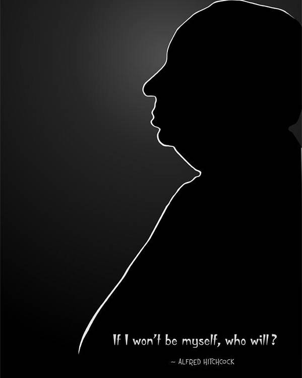 Image result for alfred hitchcock silhouette