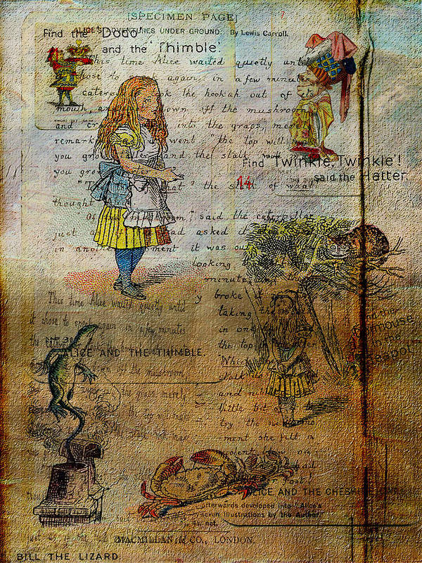 Alice Poster featuring the digital art Alice's Adventures by Sarah Vernon