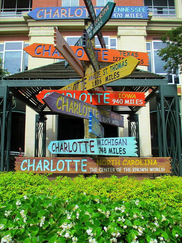 Sign Poster featuring the photograph All Charlottes by Randall Weidner