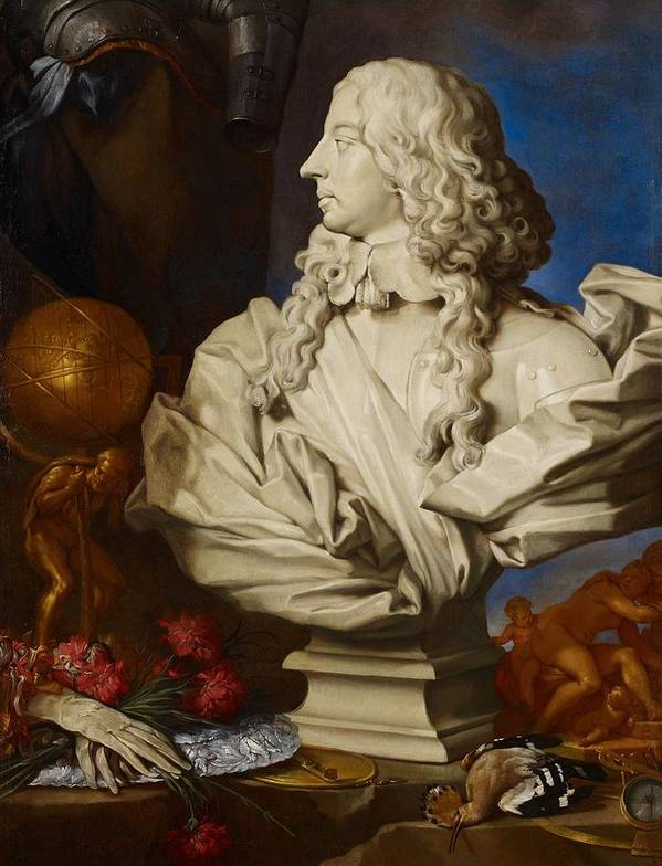 Bust Poster featuring the painting Allegorical Still Life by Francesco Stringa