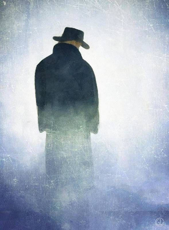 Man Poster featuring the digital art Alone In The Fog by Gun Legler