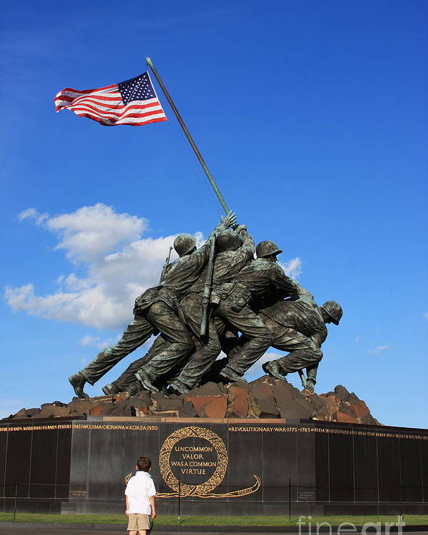 Iwo Jima Poster featuring the photograph Amazement by Andrew Romer