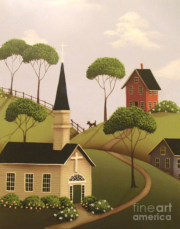 Art Poster featuring the painting Amber Hills by Catherine Holman
