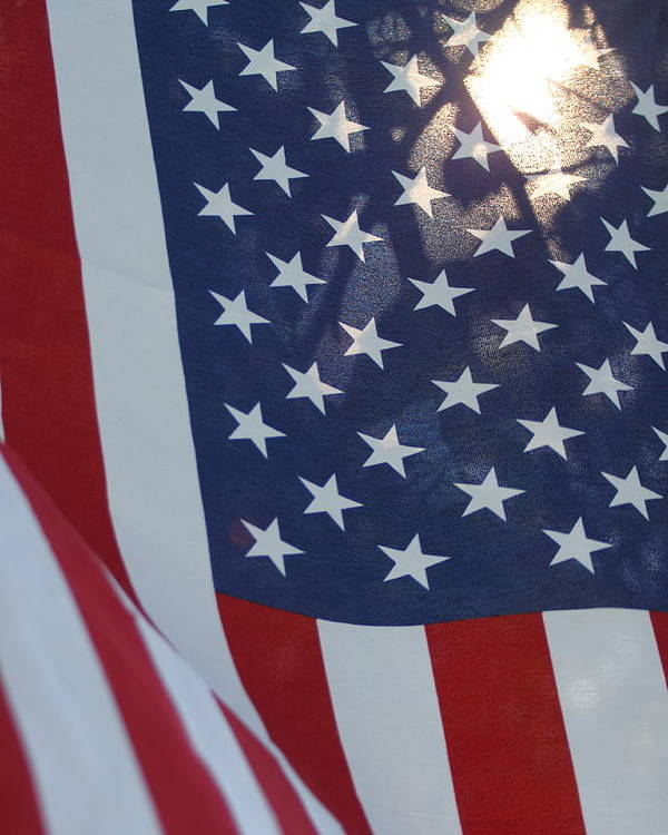 America Poster featuring the photograph American Flag - 01131 by DC Photographer