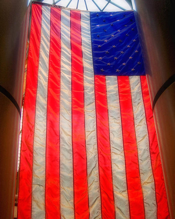 American Flag Poster featuring the photograph American Flag by Joann Vitali