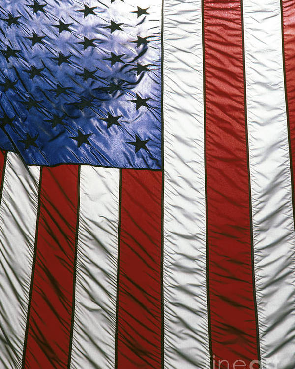 American Poster featuring the photograph American Flag by Tony Cordoza