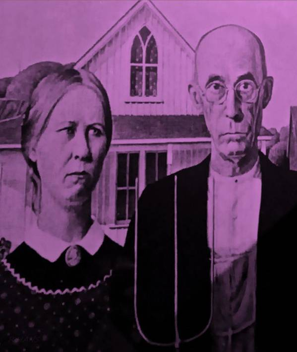 Americana Poster featuring the photograph American Gothic In Pink by Rob Hans