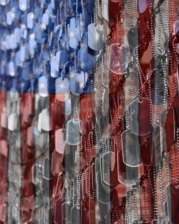 Patriotic Poster featuring the photograph American Sacrifice by DJ Florek