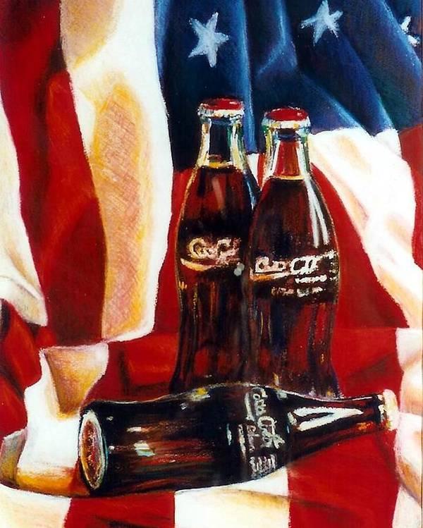 Jaxine Cummins Poster featuring the painting Americana by JAXINE Cummins
