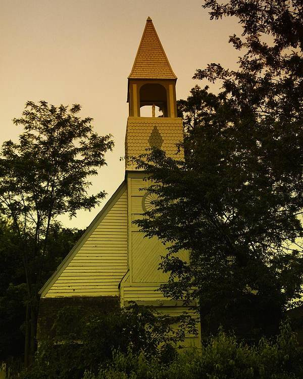 Wood Poster featuring the photograph An Old Church Near Moxee Wa by Jeff Swan
