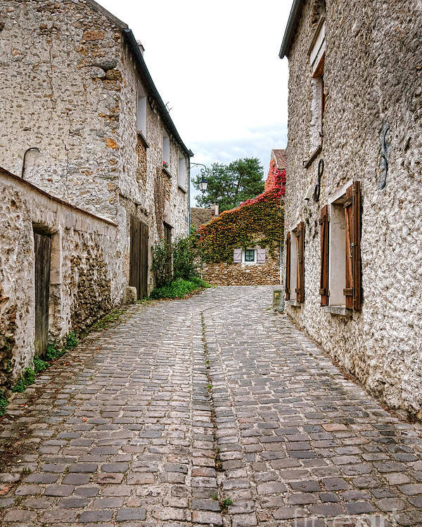 France Poster featuring the photograph An Old Village Street by Olivier Le Queinec