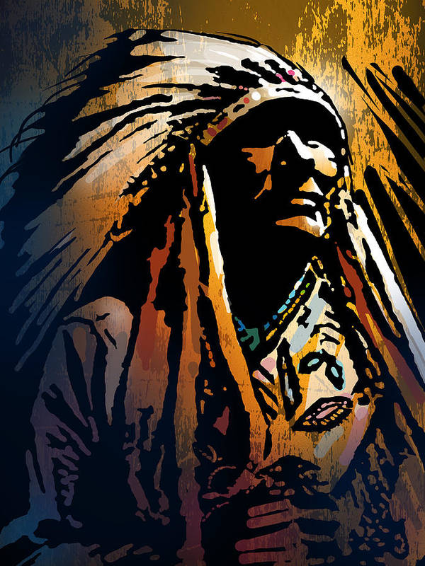 Native American Poster featuring the painting Ancestral Light by Paul Sachtleben