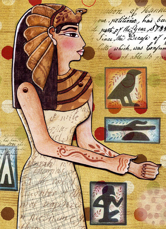 Egyptian Poster featuring the digital art Ancient Brands by Elaine Jackson