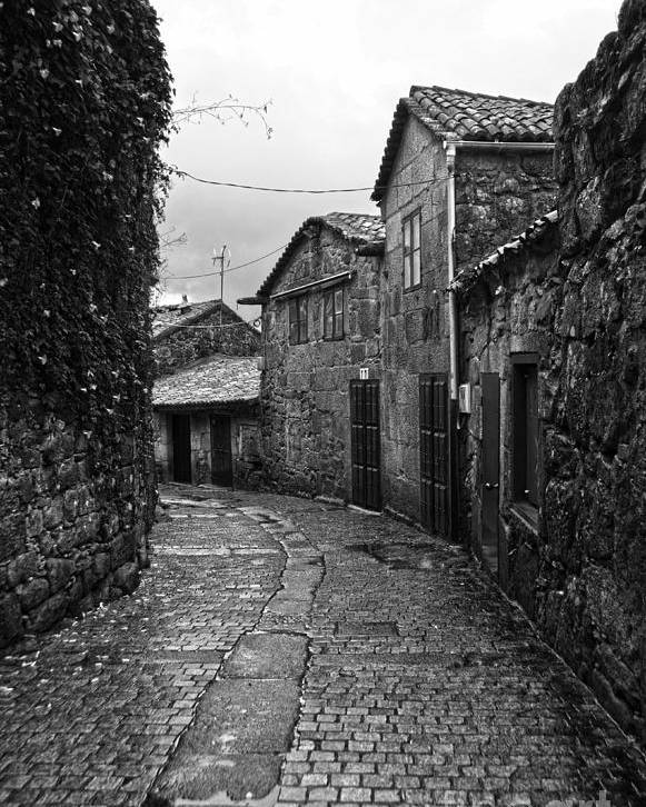 Ancient Poster featuring the photograph Ancient Street In Tui Bw by RicardMN Photography